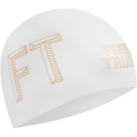 Funky Trunks Seamless Silicon Swimming Cap 10 Pieces Men, stencilled white